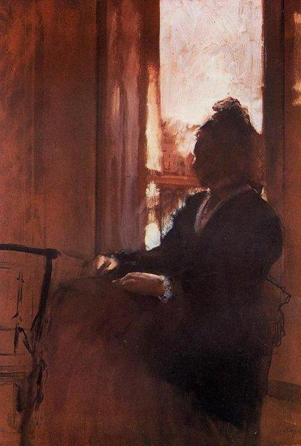 peinture - LU, VU ET ENTENDU DE TRAVERSES Edgar-degas-woman-at-the-window-1-76a03